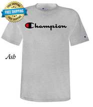 Men's Champion Classic Jersey Script Logo T-Shirt Various Sizes and Colo... - $19.99
