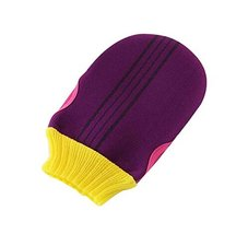 Soft Body Cleaning Bath Gloves Towels Bath Exfoliating Mitts 1 piece, PURPLE
