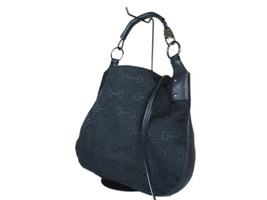 GUCCI Hose Bit Canvas Leather Black Shoulder Bag GS2189 - $289.00