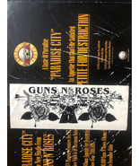 guns n roses original black and white bumper sticker circa 1986 - $166.00