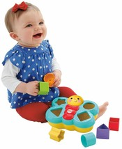 Fisher-Price Butterfly Shape Sorter Six chunky colorful shapes to sort –... - $15.97