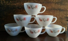 Fire King Oven Ware Fleurette Coffee Cup Set of... - $18.00