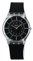 Swatch Skin Black Classiness Quartz Sfk361 Women's Watch - $120.00