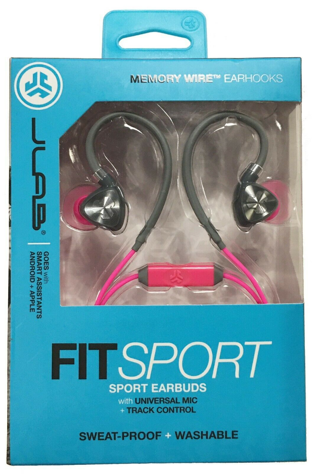 JLab Audio Fit2 Sport Earbuds, Sweatproof, Water Resistant with in-Wire Custom..