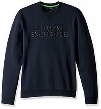 A|X Armani Exchange Men's Solid Colored Pullover Sweatshirt, Navy, XXL - $59.39