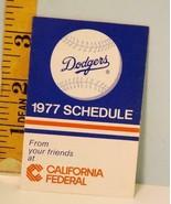 1977 Los Angeles Dodgers Baseball Schedule California Federal Bank Scarce - $12.38