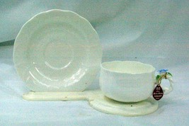 Hankook 1987 Lobed Body Blue Rose Cup And Saucer Set New From The Box - $15.93