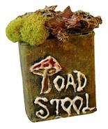 Toad Stool Metal Tin Ingredient Bottle Halloween Decor Prop - $6.00