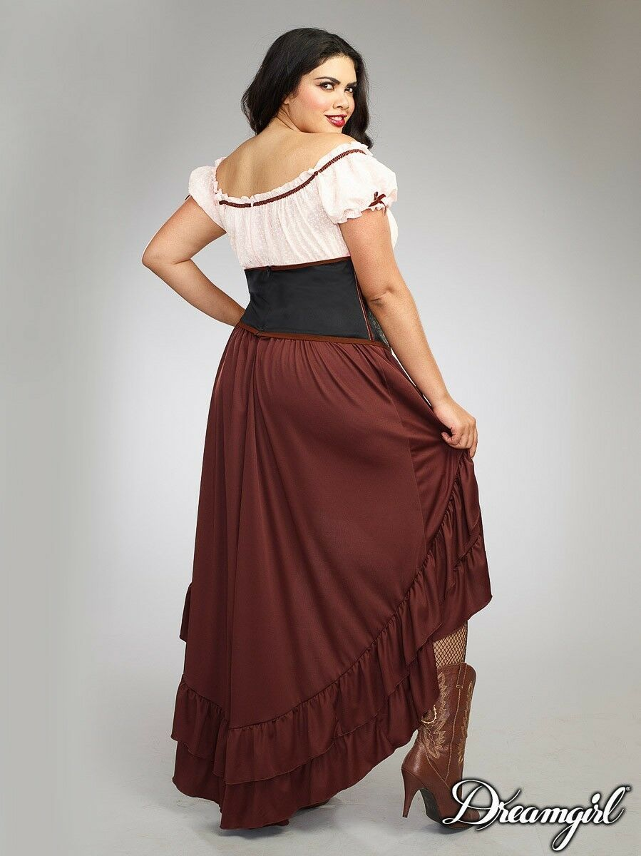Dreamgirl Saloon Gal Western Adult Plus Size Womens Halloween Costume 11134 image 2
