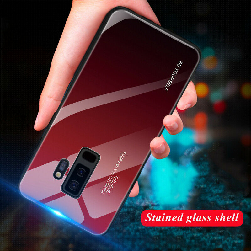 For Samsung Galaxy A6 A8 Plus A7 2018 Tempered Glass Case Silicone Frame Hard