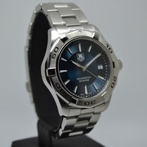 TAG Heuer Aquaracer Quartz WAP1110 Watch Men-Blue Burst Dial-Multiple Ba... - $945.00