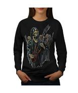 Guitar Metal Badass Skull Jumper Skull Show Women Sweatshirt - $18.99