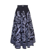 NWT $388 ANTHROPOLOGIE ESVA NAVY MIDI SKIRT by HARARE S, M - $87.99