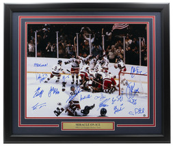 Miracle On Ice Multi Signed Framed 16x20 Photo Eruzione, Craig, +13 Steiner - $791.99