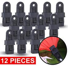Wellmax Heavy Duty Tarp Clips 12 Pieces, Multi-Purpose Awning Clamps Set with St image 11