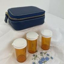 New Coach Pill Box Case Denim Blue Leather Zip Around     J2 - $88.19