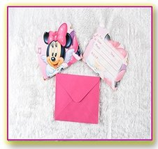 10pc/pack Minnie Mouse invitation  Happy Birthday Party Decoration Kids - $8.42