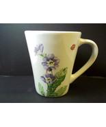 Corelle co-ordinates stoneware coffee mug CAMELLIA floral ladybug dragon... - $6.58