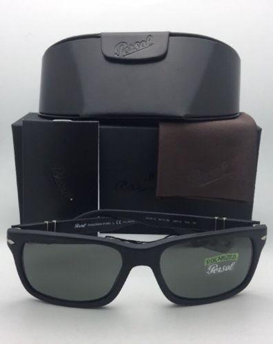 30032f43b37842 ... Polarized PERSOL Sunglasses 3048-S 9000 58 58-19 Matte Black w  ...