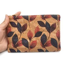 summer fashion Cork Clutch Bag Natural Wooden Zipper Pouch Oak Portugal ... - $8.90