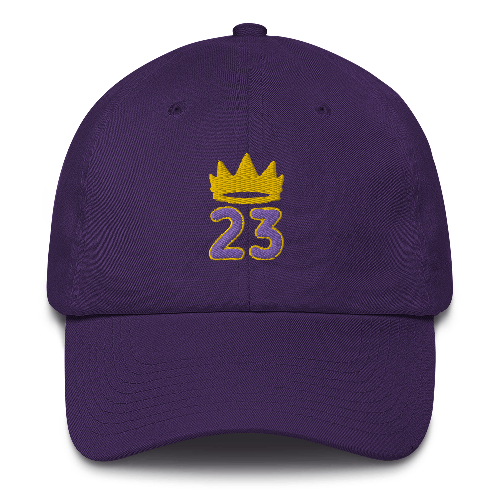 King James hat / King 23 hat / 3d embroidery / basketball hat /23 Cotton Cap
