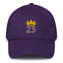 King James hat / King 23 hat / 3d embroidery / basketball hat /23 Cotton Cap  image 1
