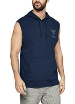 Under Armour Men's Project Rock Terry Sleeveless Hoodie Size Large -Navy... - $48.99