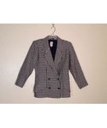 Women's Ungaro Solo Donna Italy Size 42 100% llama wool black and white ... - $79.19
