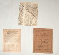 Antique 1930s North Italy South Tirol Map TCI Carta Bolzano E Dintorni image 3