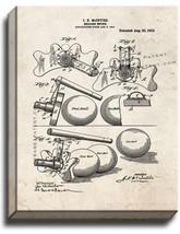 Billiard Bridge Patent Print Old Look on Canvas - $39.95+