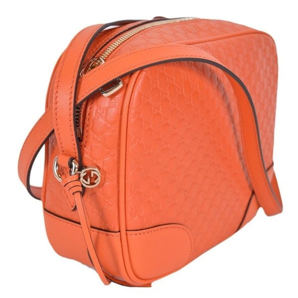 Gucci Mini Bree Microguccissima Soft Calf Margaux Sun Orange Hand Bag