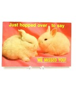 """Bunny Rabbits Postcard Just Hopped over To Say """"We Missed You"""" (A5) - $6.89"""
