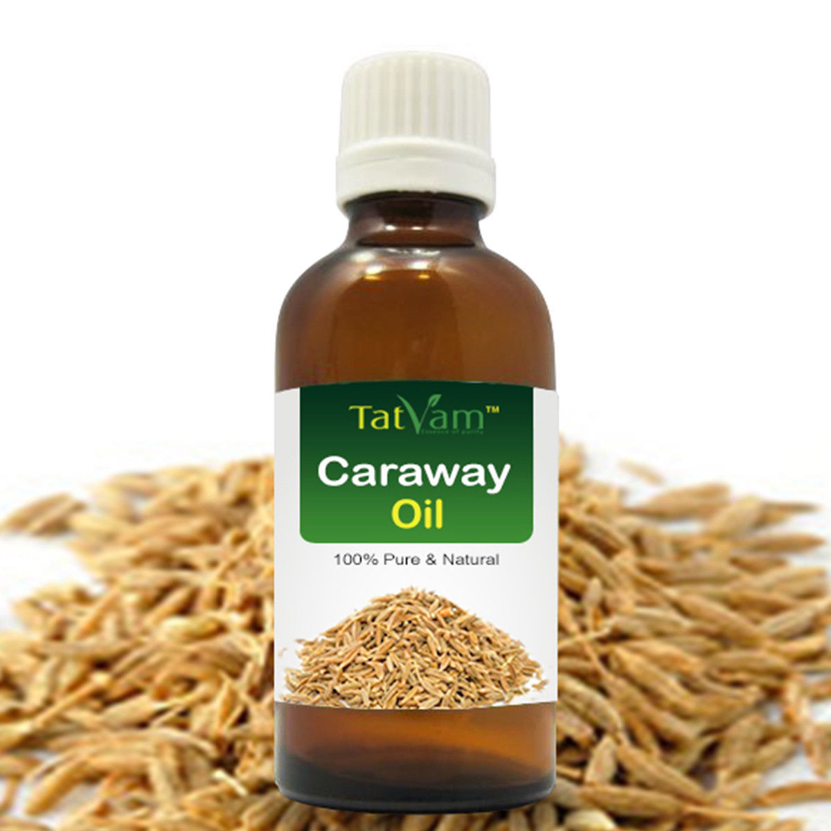 Primary image for Pure Caraway Essential Oil Carum carvi 100%Natural Therapeutic Gr by Tatvam