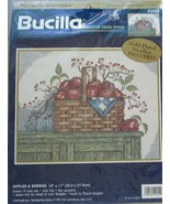 """Bucilla Counted Cross Stitch Apples & Berries #42455 14"""" x 11"""" - $17.81"""