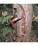 Dennis Moreland Cowboy DM Tack Braided Rawhide Browband Headstall - $349.99