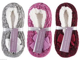Jennifer Anderton - Ladies Cute Fluffy Non Slip Knit Slipper Socks with Grippers - $10.61