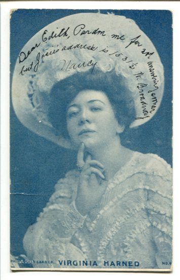 Primary image for VIRGINIA HARNED-STAGE ACTRESS-POSTCARD-1910 G