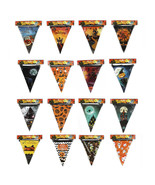 10pk Halloween Spooky Haunted House Party Banners Flags Witch Pumpkin Gh... - €10,35 EUR