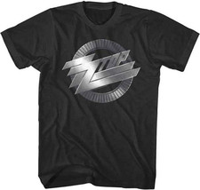 ZZ Top-Metal Logo-Large Black Lightweight T-shirt - $17.41