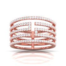 10K Rose Gold Bridal Wedding jewelry Proposal Ring Round Cut Diamond Ring Gift - $799.99