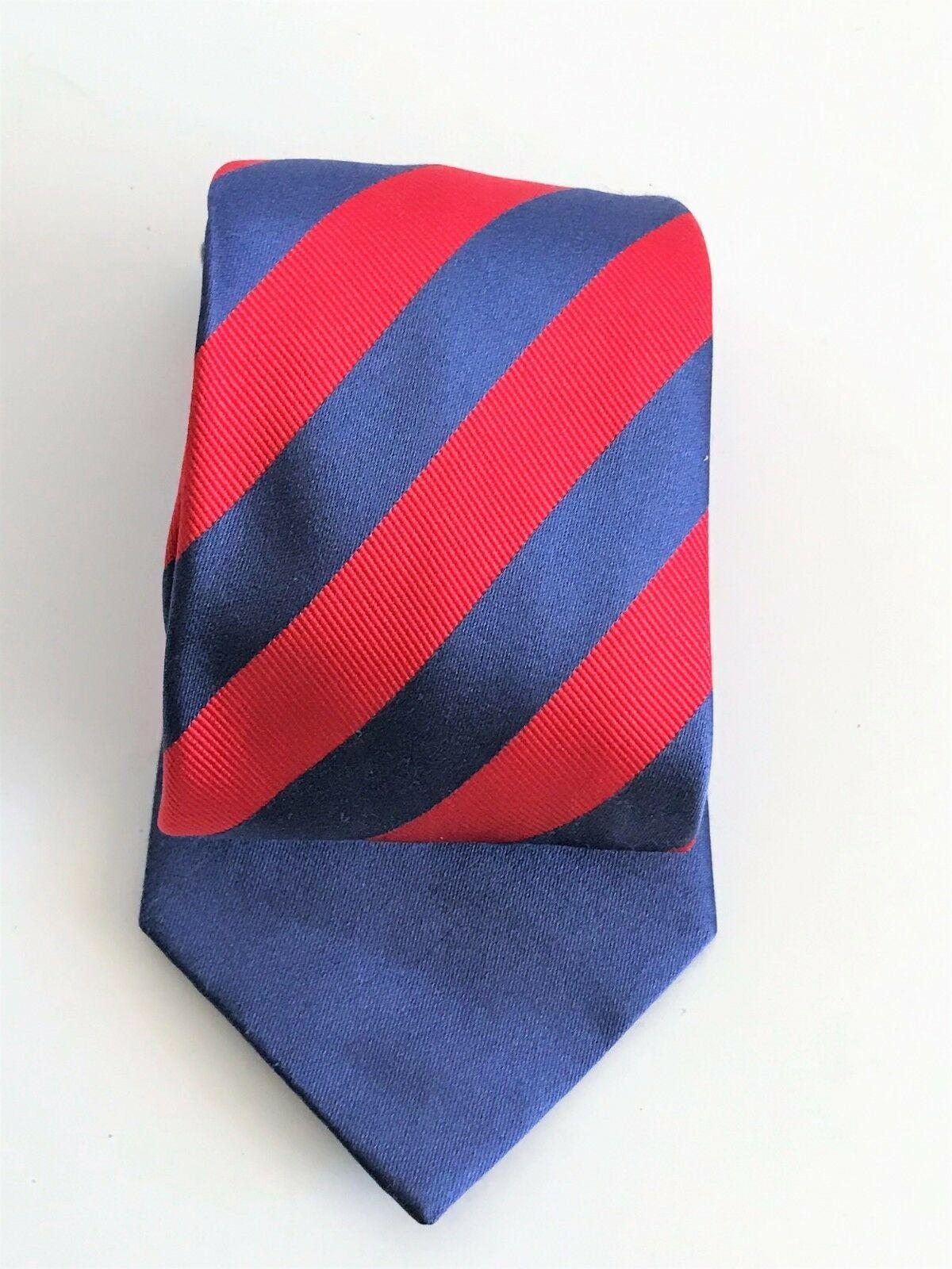 Kenneth Cole Reaction Men's Striped Blue & Red Silk Necktie image 3