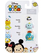 Disney Tsum Tsum 3 Pack Series 1 Goofy 107 Dumbo 123 Perry 169 StackEm - $8.00