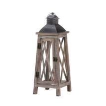 Candle Lantern Wood, Patio Candle Lanterns Wedding, Tower Wood Candle La... - $39.08