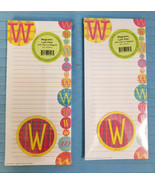 Magnetic List Note Pads Alphabet Initial W Design Lot of 2, 80 Sheets each - $13.95
