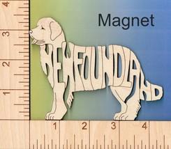 Newfoundland Dog laser cut and engraved wood Magnet - $6.00