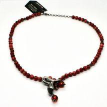 Collar de Plata 925 con Serpiente Pulido y Jaspe, Hecho en Italia By Maschia image 3