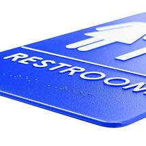 Unisex Restroom Sign, ADA-Compliant Bathroom Door Signs for Offices, Businesses, image 2