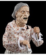 Life Size Standing Granny PSYCHO MOTHER BATES MOTEL Haunted House Horror... - $97.97