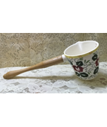 """Vintage Ucagco """"Rooster & Roses"""" Measuring Cup // 1950's // Wood Handle - $9.00"""