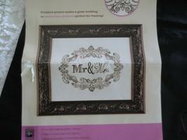 "2011 Artiste MR. & MRS. BLACK EMBROIDERY Kit - Design 11 11 1/4"" x 1/4"" ... - $11.88"